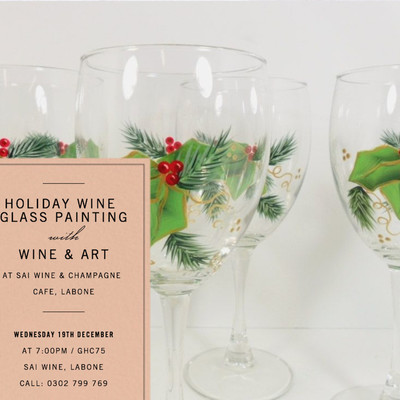 Holiday Wine Glass Painting