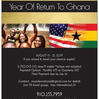 YEAR OF RETURN TO GHANA 2019:  AKWAABA!!