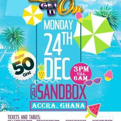 Sandbox Beach Club. Accra. Ghana. LETs GET IT ON. £10
