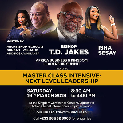 Master Class Intensive: Next Level Leadership With T.D. Jakes