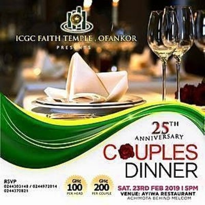 25th Anniversary Couples' Dinner