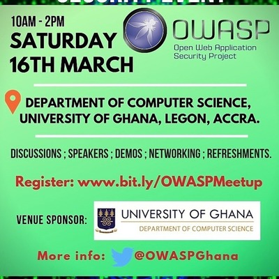 FREE Software/Application Security Event - OWASP GHANA Chapter Meeting