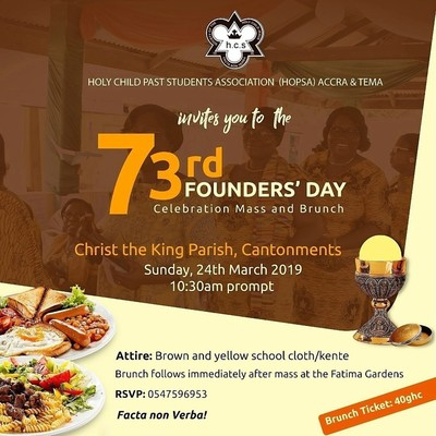 Holy Child School Founder's Day Celebrations - Mass and Brunch