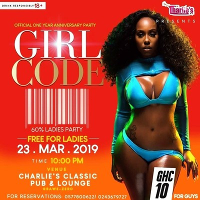 Girl Code (60% Ladies Party)