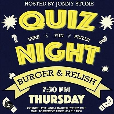 Quiz Night Thursday(Burger & Relish)