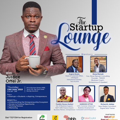 THE STARTUP LOUNGE (Funding Opportunity & Pitching Techniques )