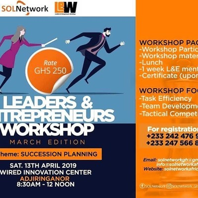 LEADERS AND ENTREPRENEURS WORKSHOP 2019(SUCCESSION PLANNING WORKSHOP))
