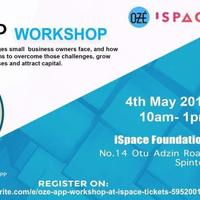 OZÉ App Workshop at iSpace