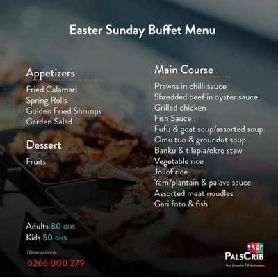 Easter Sunday Buffet Menu