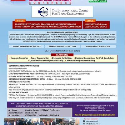 17th iSTEAMS  Cross-Border  Conference, Ghana 2019