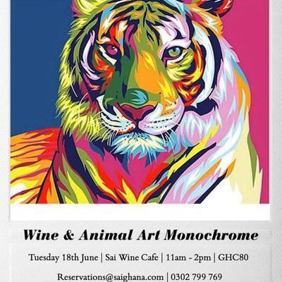Wine & Animal Art: Monochrome