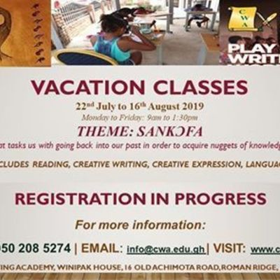 2019 Vacation Classes
