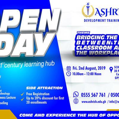ASHRICH DEVELOPMENT TRAINING CENTER OPEN DAY