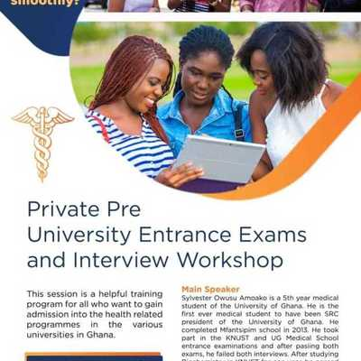 PRIVATE PRE UNIVERSITY ENTRANCE EXAMS & INTERVIEW WORKSHOP