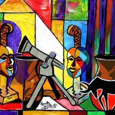 Wine & Abstract Art