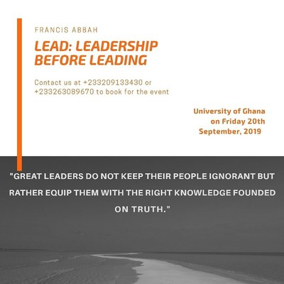Lead: Leadershp before Leading