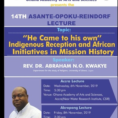 14th Asante-Opoku-Reindorf Lecture(Akropong)