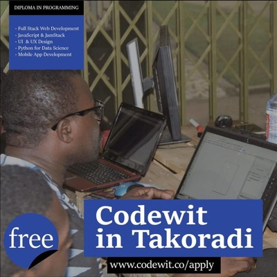 CODING BOOTCAMP TAKORADI: FREE DIPLOMA IN PROGRAMMING