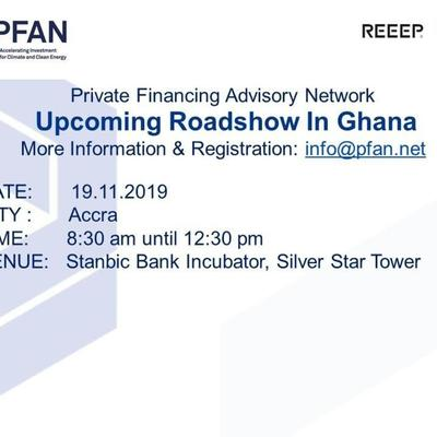 PFAN Project Development and Financing Roadshow