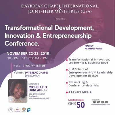 Transformational Development, Innovation and Entrepreneurship(TDIE) Conference