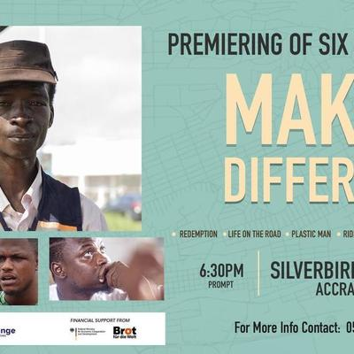 PREMIERING OF SIX SHORT FILMS (MAKE A DIFFRENNCE)