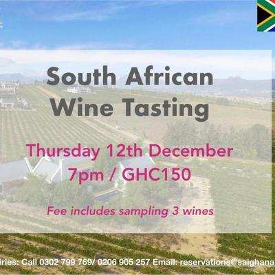 South African Wine Tasting