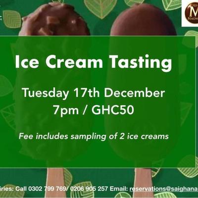 Ice Cream Tasting