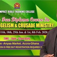 6 Weeks Free Training In Mass Evangelism & Crusade Ministry