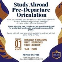 Study Abroad Pre-Departure Orientation