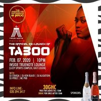 TABOO Fridays Re-Launch Party