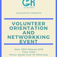Volunteer Orientation and Networking Event