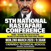 5TH NATIONAL RASTAFARI CONFERENCE
