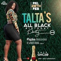 TALTA'S All Black Birthday Party