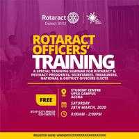 ROTARACT OFFICERS' TRAINING