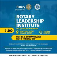 ROTARY LEADERSHIP INSTITUTE (RLI) GHANA DIVISION