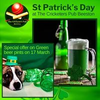 St Patrick's Day at The Cricketers Pub Beeston