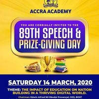 89th Speech & Prize-Giving Day