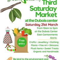 3rd SATURDAY MARKET AT DUBOIS CENTER (21st MARCH)