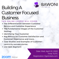 Webinar: Building A Customer Focused Business