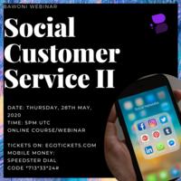 Social Customer Service II (Webinar)