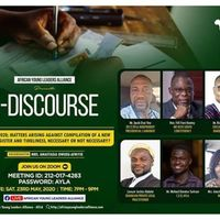 E-discourse: Election 2020; Matters Arising