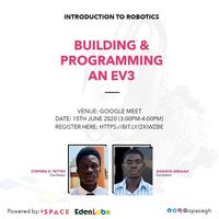 BUILDING AND PROGRAMMING AN EV3