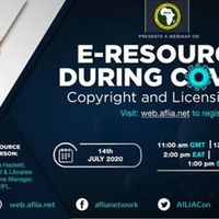 Webinar: E-resources during Covid-19: copyright issues