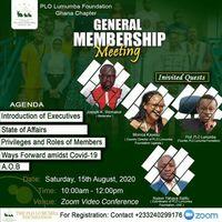 PLO Lumumba Foundation Ghana 1st Ever Gen. Membership Meeting