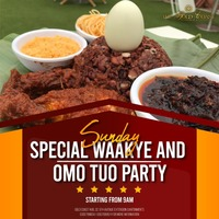 Sunday Special Waakye & Omo Tuo Party