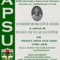 Commemorative Mass for Feast of St. Augustine 2020
