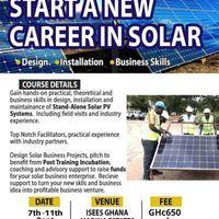 Solar Energy Entrepreneurship- Design, Installation, Maintenance