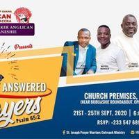 FESTIVAL OF ANSWERED PRAYERS 2020