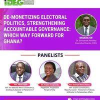 IDEG Webinar: De-monetizing Electoral Politics