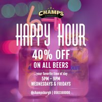 Happy Hour @ Champs Bar